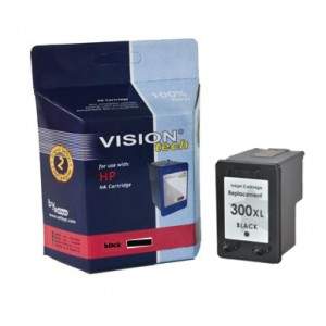 HP 300XL, black 18ml, Vision Tech kompatibilné