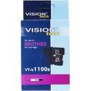 Kompatibilné s Brother LC-1100Bk, Vision, black 20ml