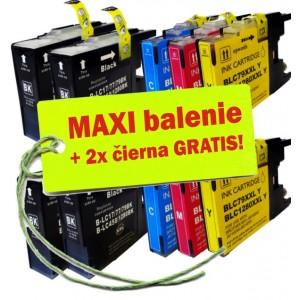 Kazety Brother LC-1280 XL / 1240 8ks maxi set + 2 zadarmo
