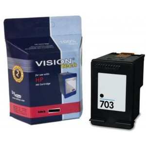 HP 703, black 20ml, Vision Tech kompatibilné