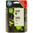 Multipack HP 300 (black) + HP 300 (color) CN637EE