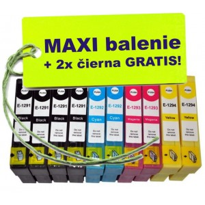 Kazety Epson T129 8ks maxi set + 2 zadarmo