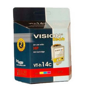 HP 14C, color 23ml, Vision Tech kompatibilné