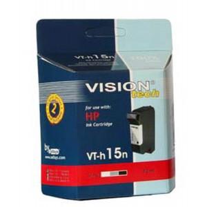 HP 15, black 30ml, Vision Tech kompatibilné