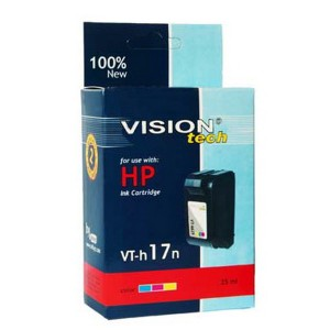 HP 17, color 30ml, Vision Tech kompatibilné