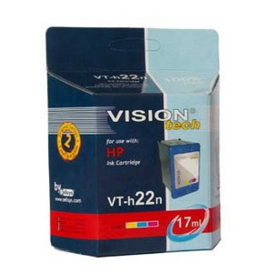 HP 22, color 17ml,  Vision Tech kompatibilné