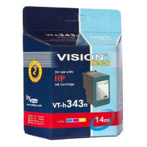 HP 343, color 19ml,  Vision Tech kompatibilné