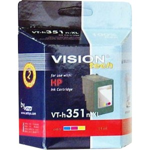 HP 351XL, color 19ml, Vision Tech kompatibilné