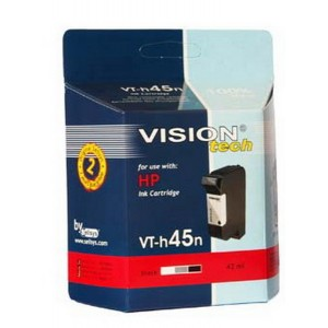 HP 45, black 44ml,  Vision Tech kompatibilné