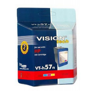HP 57, color 17ml,  Vision Tech kompatibilné